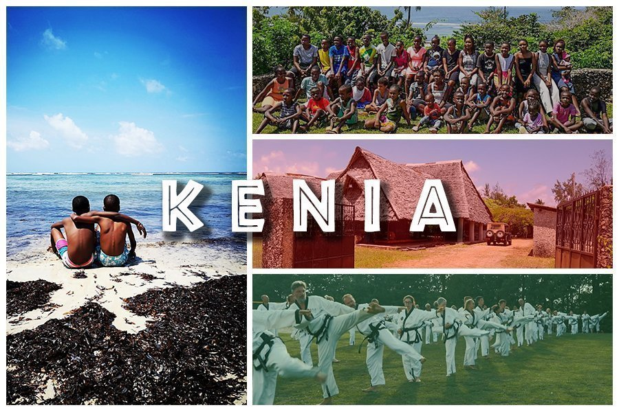 YOUNG-UNG Taekwondo Kenia Charity Trainingscamp Afrika Schwarz-Weiß Projekt Kinderdorf
